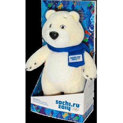 """99054 Мягкая игрушка """"Белый мишка"""" Сочи 2014"""