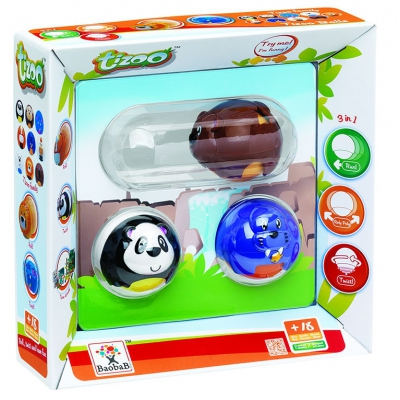 """*113150 Набор игрушек шаров-зверушек """"Tizoo"""" Baobab"""