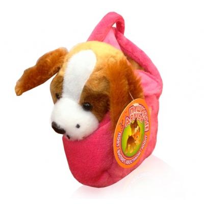997281H Пушистые друзья. Интерактивная собачка мягкая в сумке ВВ-Тойз