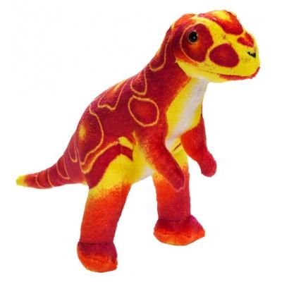 0068 Мягкая игрушка динозавр Тиранозар красный 25 см Абвгдейка