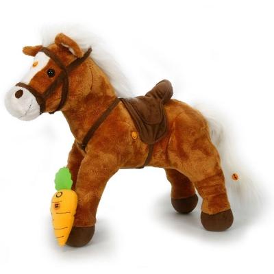 """*91203R-HWH Мягкая интерактивная игрушка """"Пони коричневый"""" Тeeboo"""