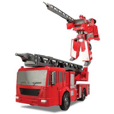 """*80040 Игрушка Робот-трансформер Пожарная машина X-Bot - 8"""" 20 см Happy Well"""