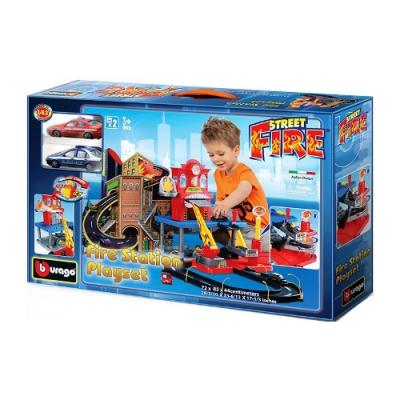 """9930043 Игровой набор """"Пожарная Станция"""" с 2 машинками Bburago"""