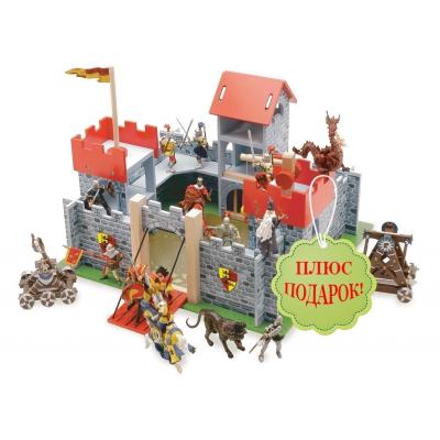 """99030 Рыцарский деревянный замок """"Камелот"""" Le Toy Van + Подарок"""