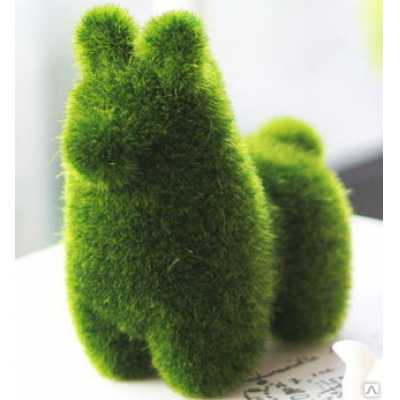 """6542 ЭКО-игрушка из травы """"Альпака"""" 12х12 см"""