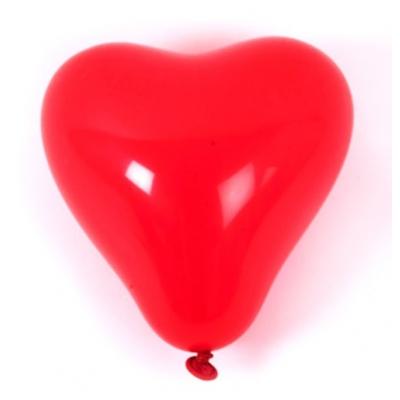 99028 Надувные воздушные шарики Сердечки 10 шт Everts