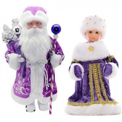 992017 Снегурочка и Дед Мороз под елку Happy New Year