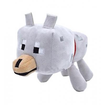 0001 Мягкая игрушка Волк из игры Майнкрафт Minecraft