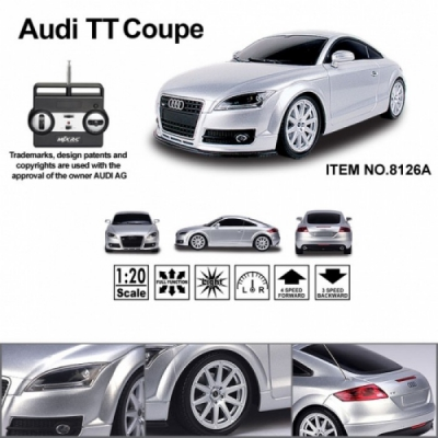 *8126A Машина на радиоуправлении Audi TT Coupe 1/20 Белая MJX