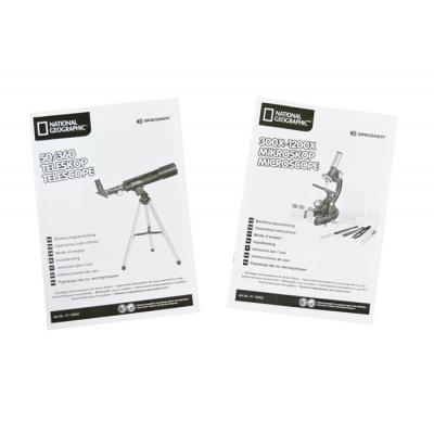 67545 Набор оптический: телескоп 50/360 AZ и микроскоп 300x–1200x Bresser National Geographic