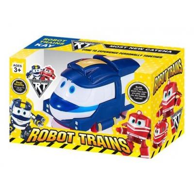 *ZY-633A Игрушка машинка инерц Кей Kay Робо Поезд синий Robot Trains