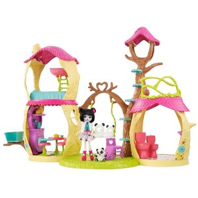 """FNM92 Игровой набор """"Лесной замок"""" Прю Панда и Нари Enchantimals Mattel"""