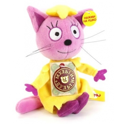 99834 Мягкая игрушка 3 кота Лапочка 13 см звук Мульти-Пульти