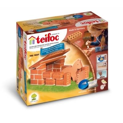 TEI1021 Строительный набор из кирпичиков Конюшня Teifoc