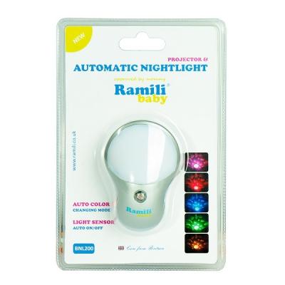 *BNL200 Автоматический детский ночник и проектор Ramili Baby