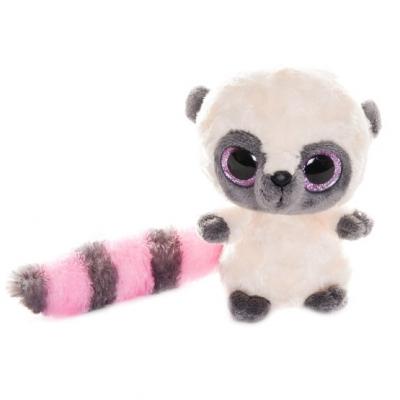 990056 Мягкая игрушка Лемур Юху розовый 12 см Aurora