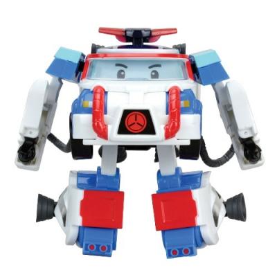 *99561 Машинка-трансформер Поли + костюм астронавта 10 см Робокар Поли SilverLit