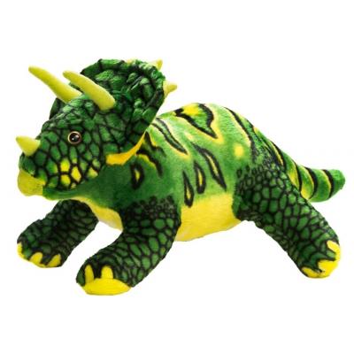 0068 Мягкая игрушка динозавр Трицератопс зеленый 25 см Абвгдейка