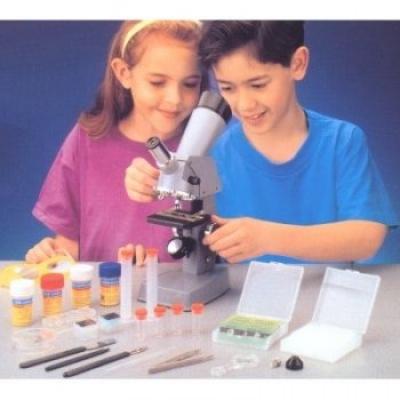 *MS008 Микроскоп детский с проектором и микропрепаратами Edu-Toys