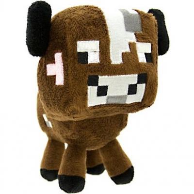 0001 Мягкая игрушка Корова из игры Майнкрафт Minecraft