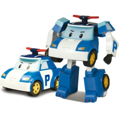 990035 Машинка-трансформер Поли 10 см Робокар Поли SilverLit