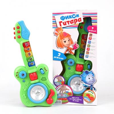 *GT8647 Гитара для малышей (свет+звук) 7 функций Фиксики
