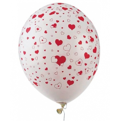 """99030 Надувные воздушные шарики Сердечки """"День святого Валентина"""" 50 шт Everts"""