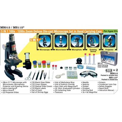 """*MS112 Микроскоп детский с проектором """"5 в 1"""" в чемодане Edu-Toys"""