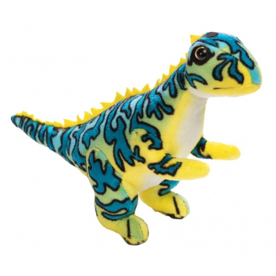 0068 Мягкая игрушка динозавр Цератозавр синий 25 см Абвгдейка