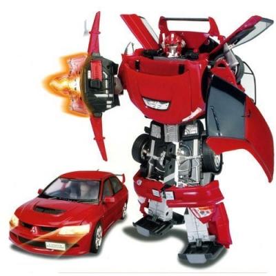 51010 Игрушка Робот-трансформер Машина Mitsubishi Lancer Evolution IX 40 см Happy Well