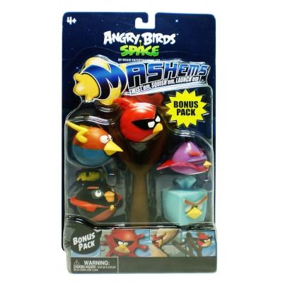 990017 Набор игрушек-мялок с рогаткой Angry Birds