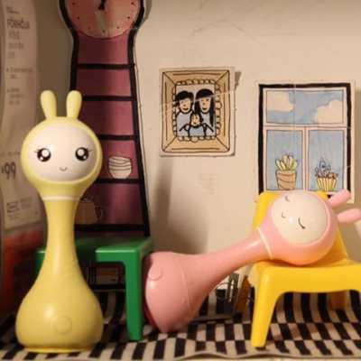 60907 Музыкальная интерактивная игрушка Зайка желтый Alilo R1