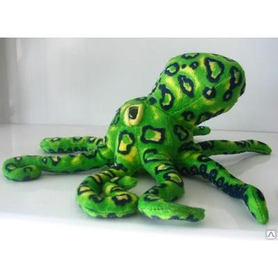 *BP0011 Мягкая игрушка Осьминог зеленый 36 см Абвгдейка