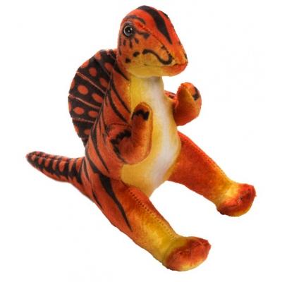 0068 Мягкая игрушка динозавр Норвежский Зубцеспин красный 25 см Абвгдейка