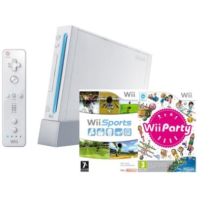 99812 Игровая приставка Nintendo WII Nintendo в комплекте с играми Wii Party и Wii Sports
