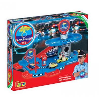 990421 Игровой набор Полицейская парковка 2-х уровневая и машинка Faro