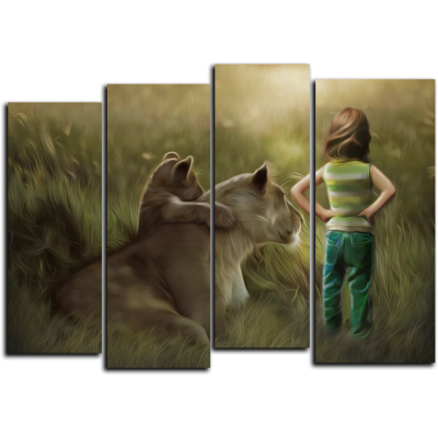 """99177 Модульная картина для детской """"Маленькая дружба"""""""