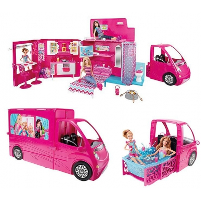 BJN62 Набор Машина-Трейлер для путешествий Барби Barbie Mattel
