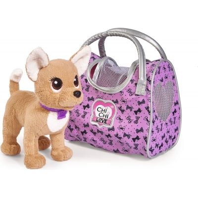 99167 Плюшевая собачка Путешественница с сумкой-переноской Chi Chi love Simba