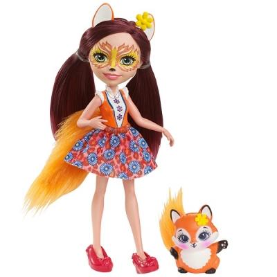 DVH89 Кукла Фелисити Лис 15 см Enchantimals Mattel