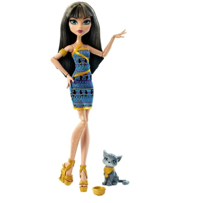 DNX39 Кукла Клео Ди Нил с питомцем Monster High Mattel