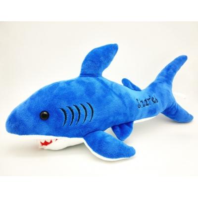 *00021 Мягкая игрушка Акула Синяя 46 см Абвгдейка