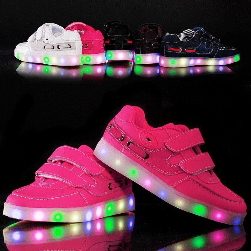 Детские светящиеся кроссовки Led Обувь - купить недорого в интернет ... efa0ea09b7afa