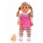 Купить 994571 Кукла 40 см (ходит, поет песенку) с собачкой Карапуз