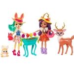 Купить FDG01 Набор из 2 кукол Enchantimals с любимыми зверюшками Mattel