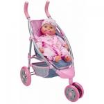 Купить 99033 Коляска для куклы 3-х колесная Agatka