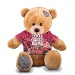 Купить 990015 Мягкая игрушка Мишка в футболке 3D «Самая лучшая мама»