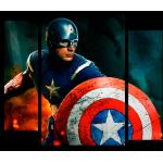 """Купить 99164 Модульная картина для детской """"Капитан Америка"""""""