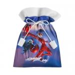 Купить 39712 Подарочный 3D мешок «Новогодняя леди Баг»