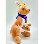 Купить *KG0002 Мягкая игрушка Кенгуру с детенышем 25 см Абвгдейка
